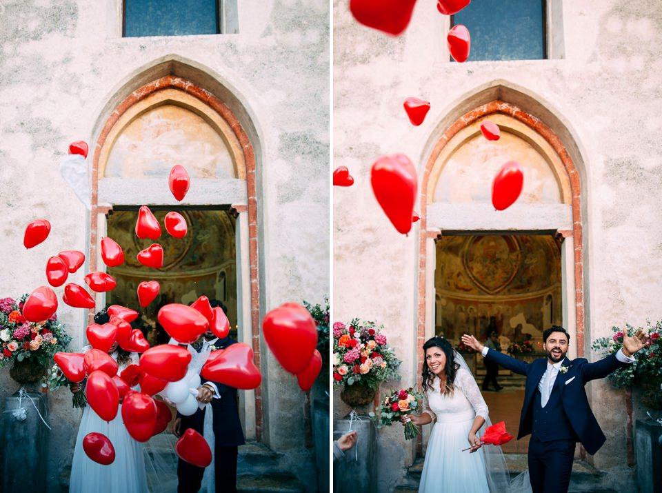 palloncini rossi matrimonio