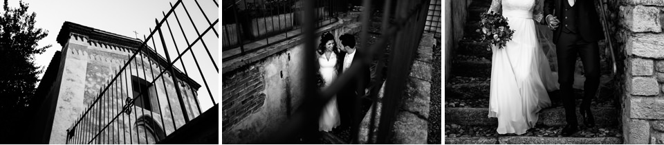 elegante coppia di sposi a varese