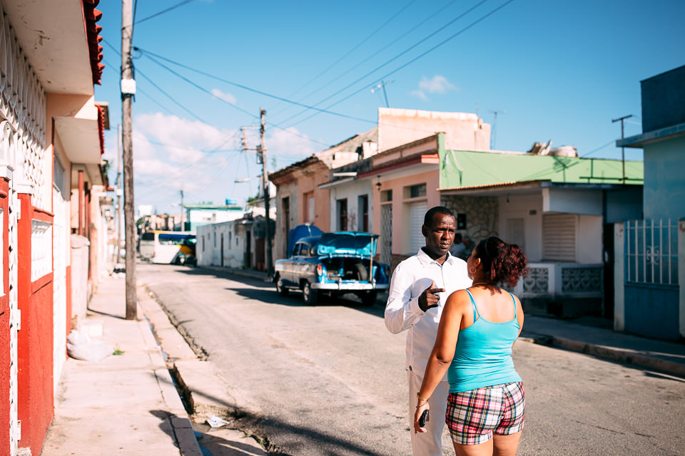 the streets of Cuba wedding