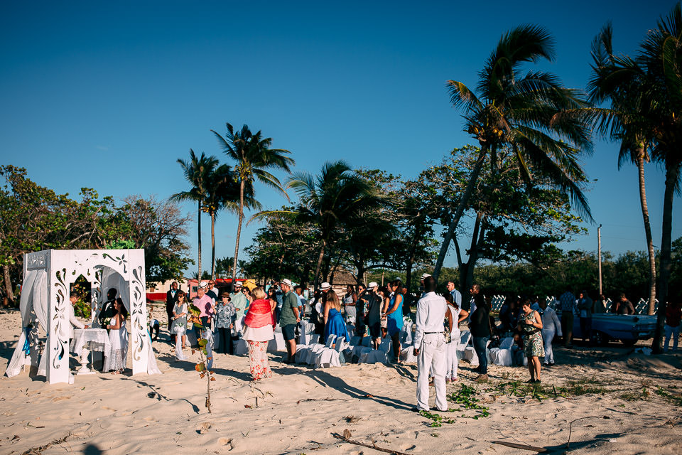 wedding ceremony on the cuba beach