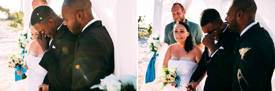 tropical wedding on the sea