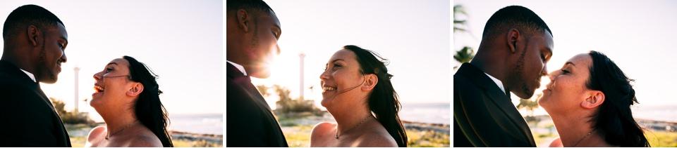 pareja enamorada en la playa cubana