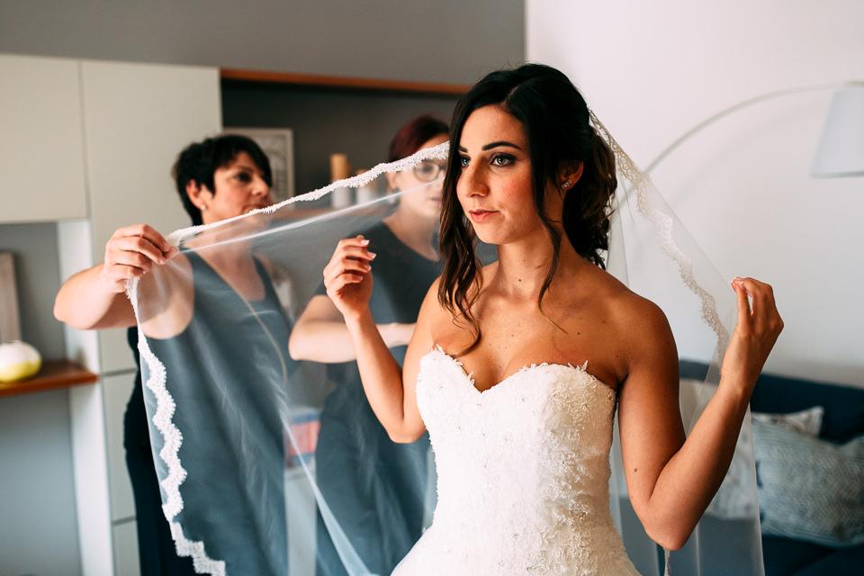 velo bianco da sposa