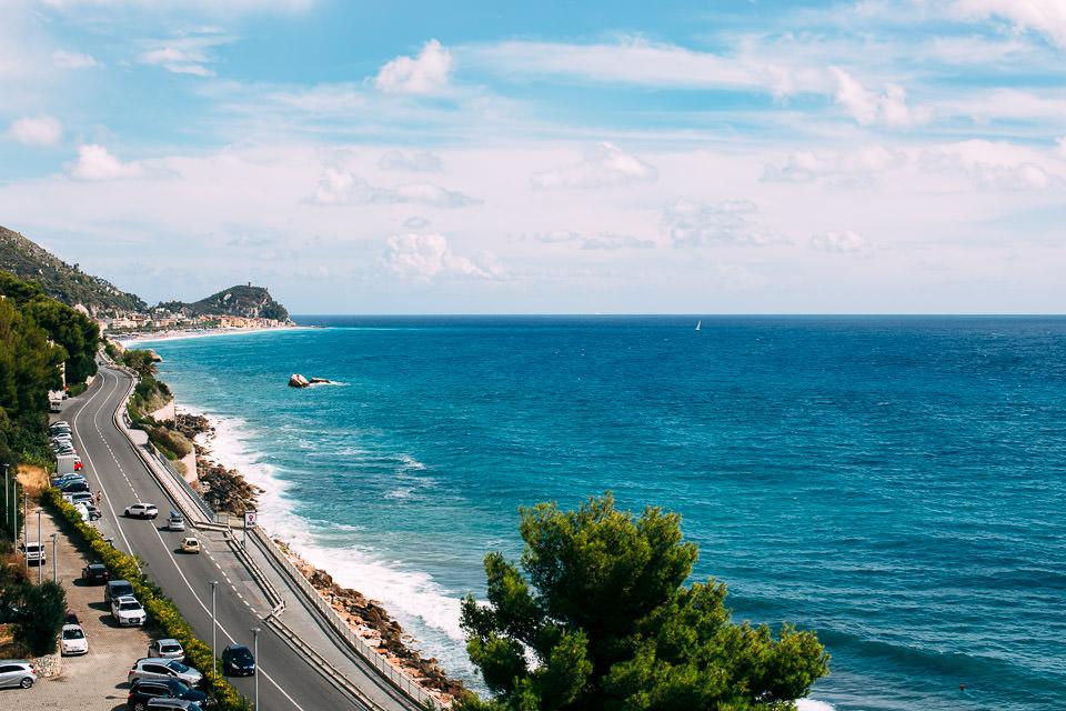 vista mare dalla camera dell'hotel del golfo di spotorno