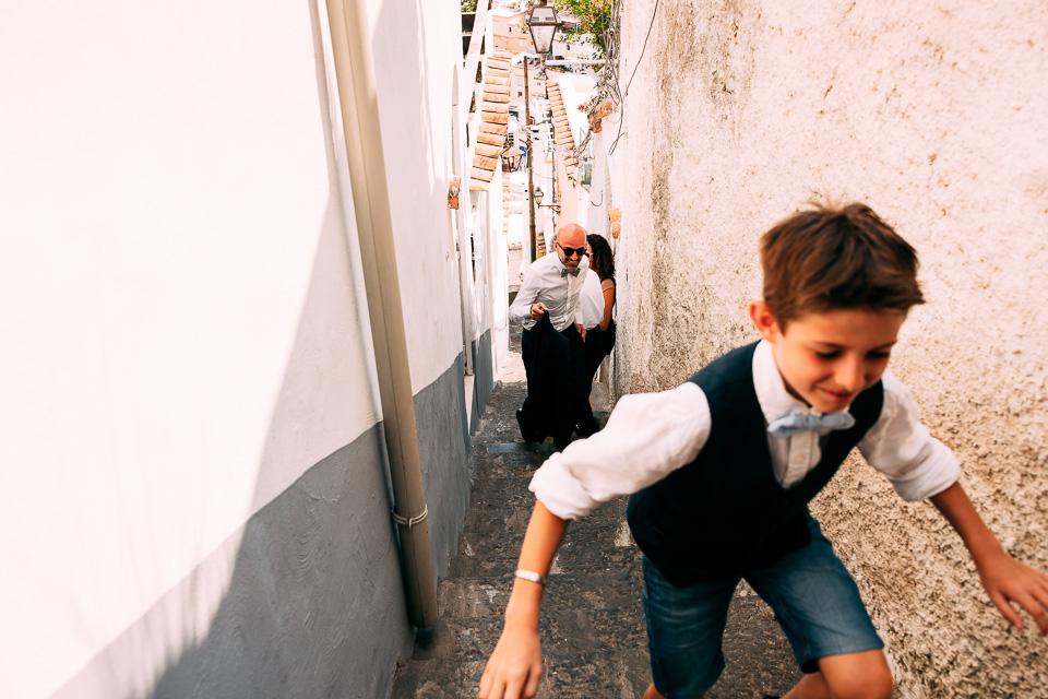 matrimonio nelle vie di Positano