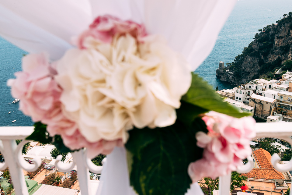 floral arrangement for wedding posaflora Positano