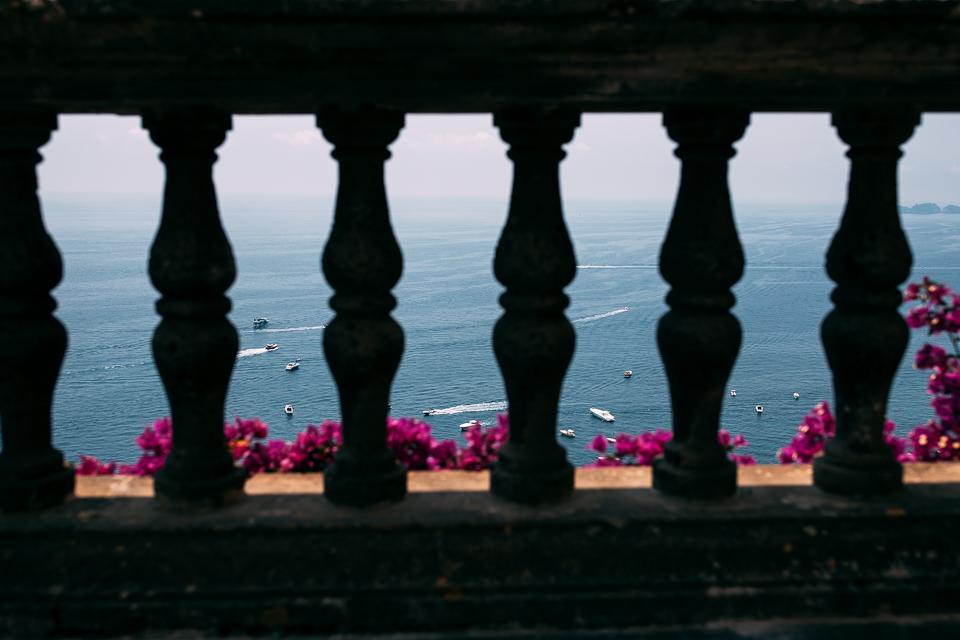 vista mare da villa magia di Positano
