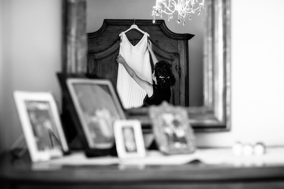 elegante abito da sposa bianco di le spose di claudia, montelupo fiorentino, firenze