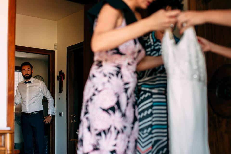 fratello della sposa in abito blu, firenze