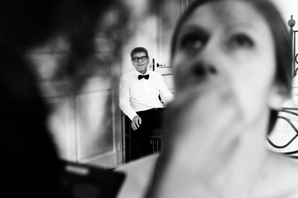 il papà della sposa nella suite di villa magia, positano