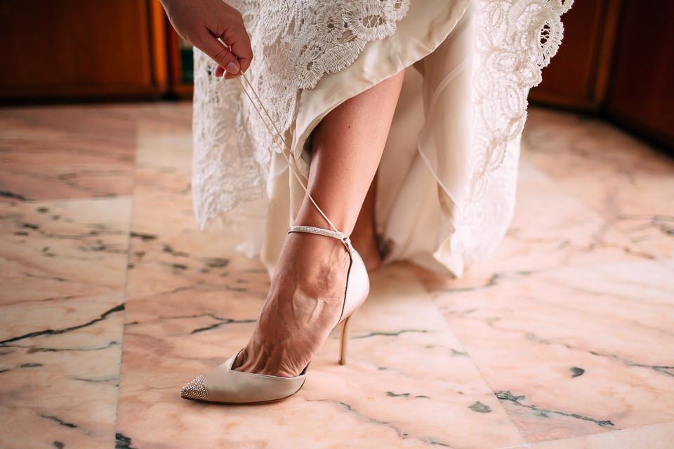 scarpe sposa color oro