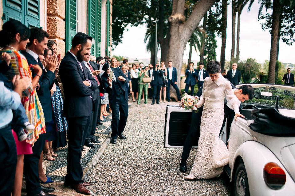 l'arrivo della sposa in villa faraggiana