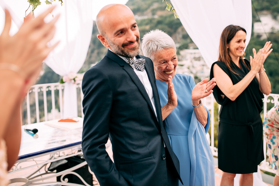 matrimonio con cerimonia civile celebrato nella terrazza del comune di positano