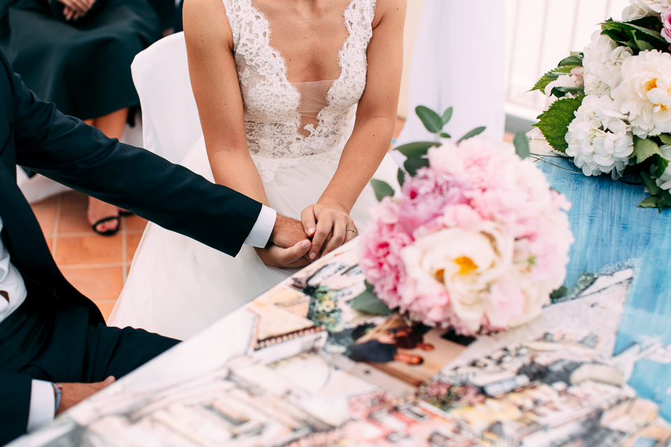 celebrazione matrimonio all'aperto a positano
