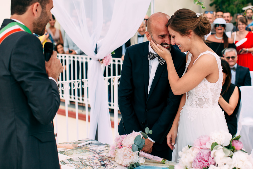 matrimonio civile all'aperto a positano, costiera amalfitana