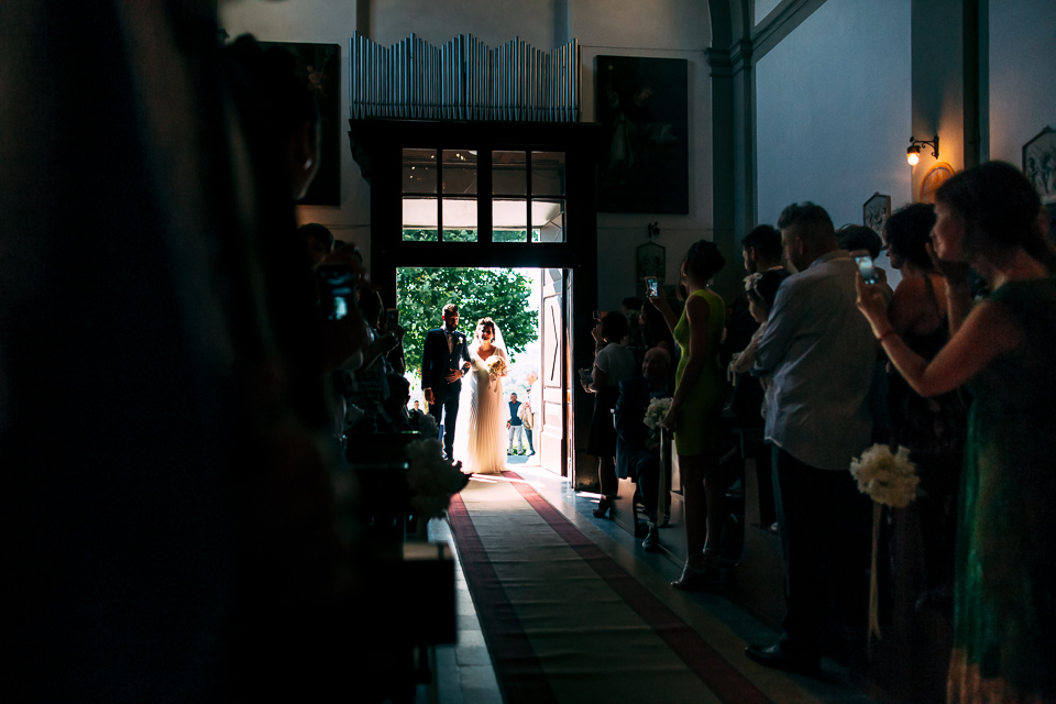 church Tuscany wedding