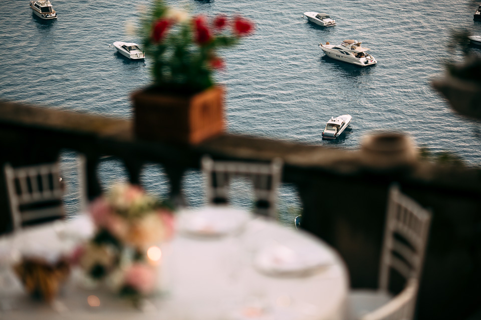 location matrimonio all'aperto a positano con vista mare, villa magia
