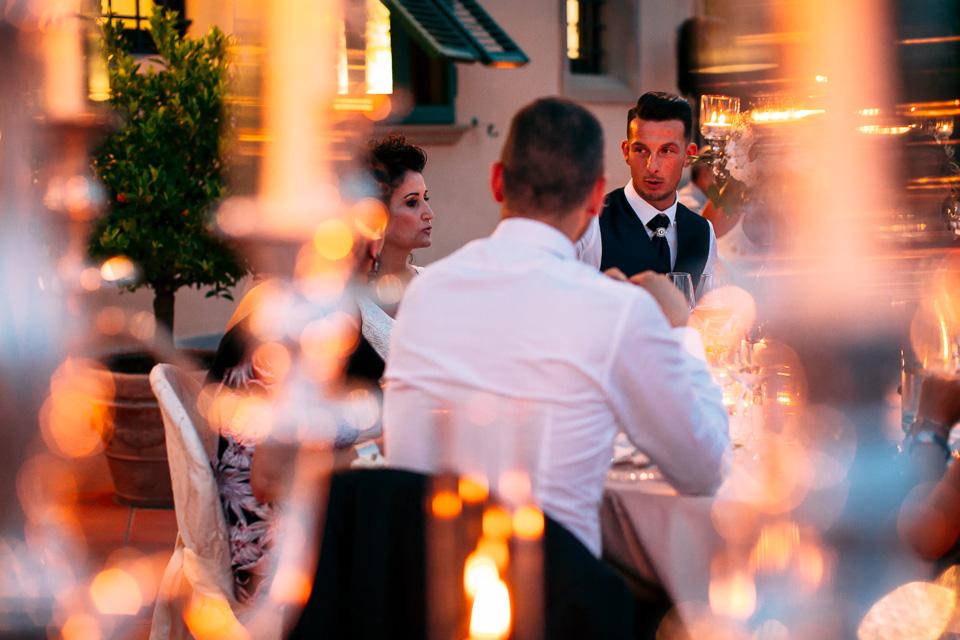 cena di matrimonio al poggetto resort in toscana