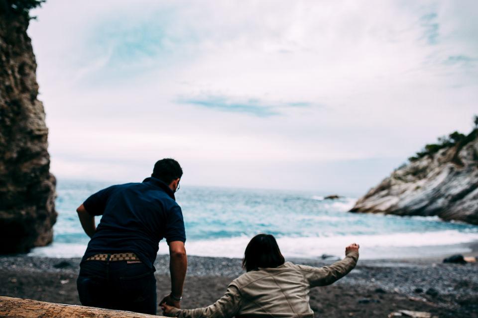 scorcio di mar ligure a bergeggi