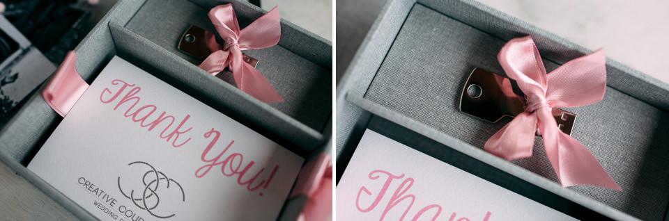 i file del matrimonio su una chiavetta personalizzata