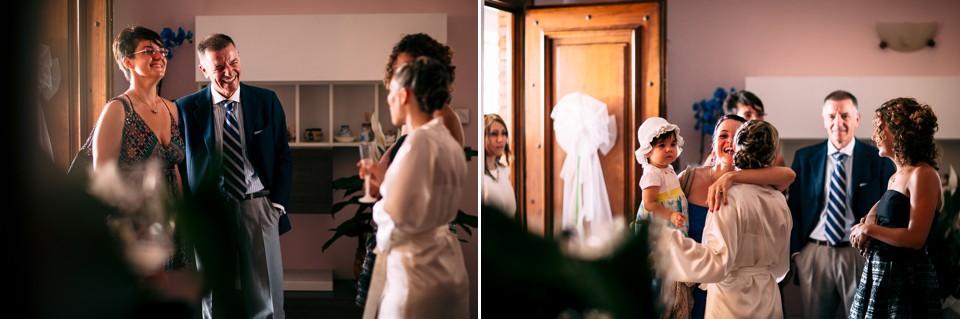 i parenti a casa della sposa