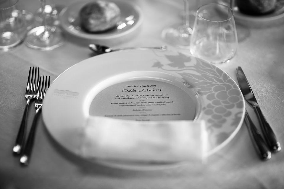 menu del matrimonio in tenuta carretta a piobesi d'alba