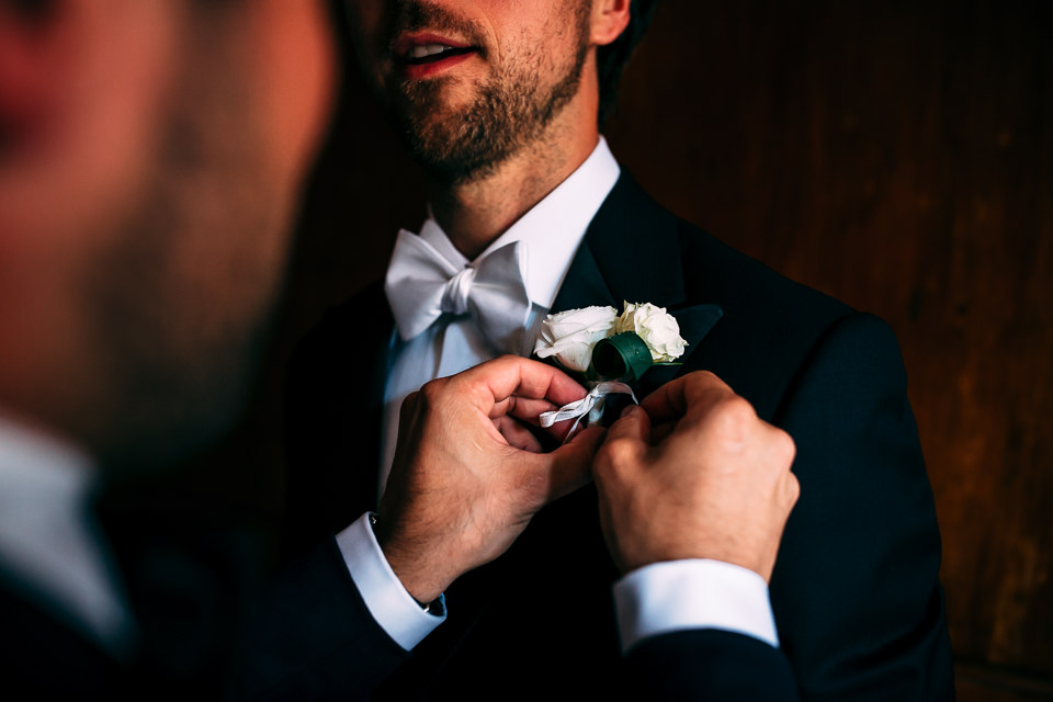 Norwegian groom in black suit