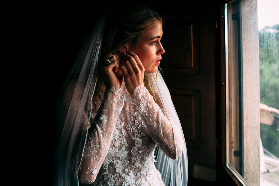 Norwegian bride in white dress