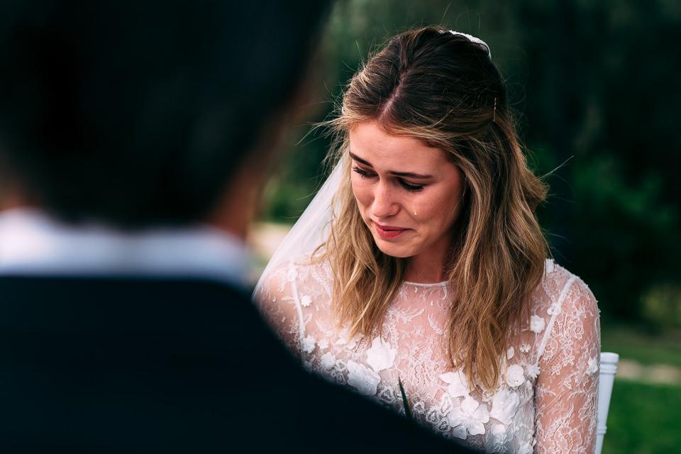 sposa in lacrime