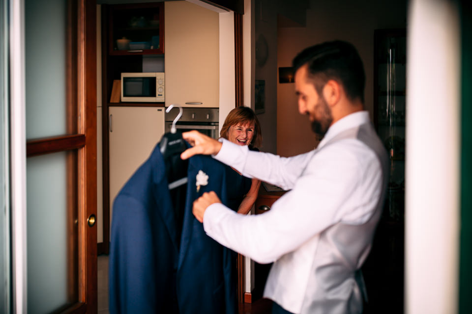 abito blu da sposo