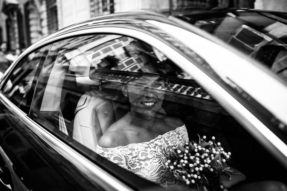 l'arrivo della sposa a palazzo tursi