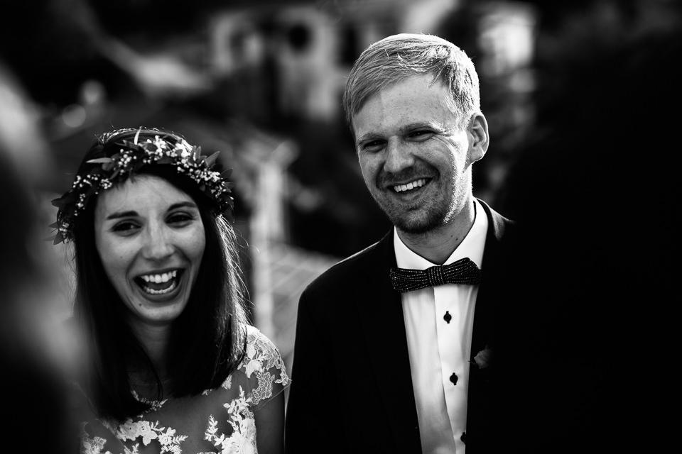 coppia di sposi tedeschi nelle langhe