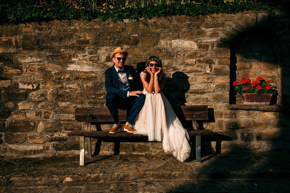 coppia di sposi nelle langhe