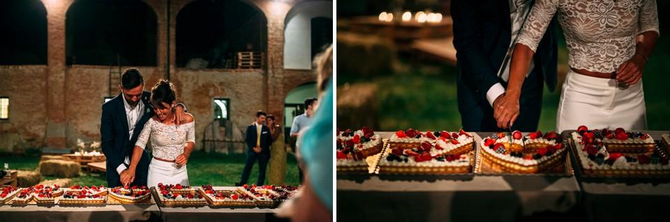 taglio della torta matrimonio la castagnola