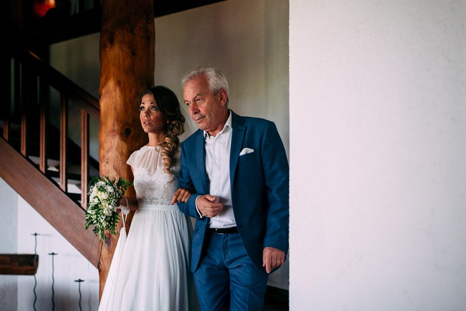 la sposa con il padre