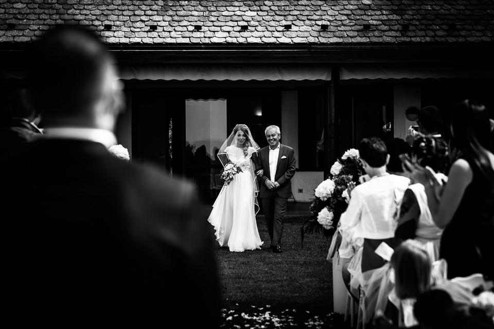 ingresso della sposa sul lago maggiore