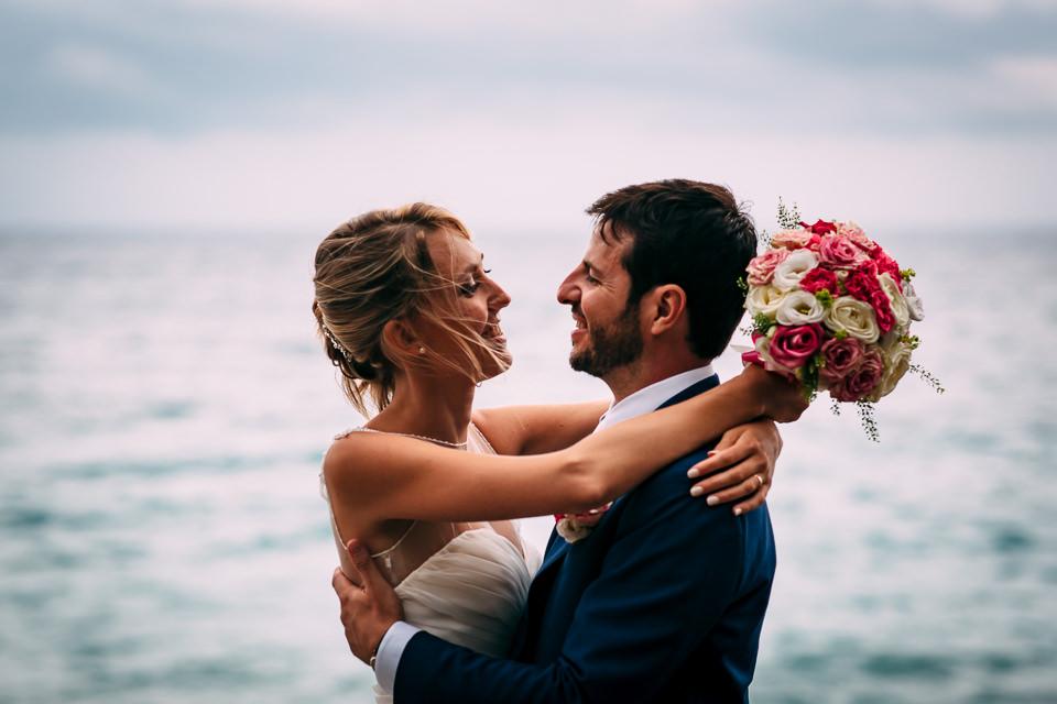 matrimonio al mare in burrasca