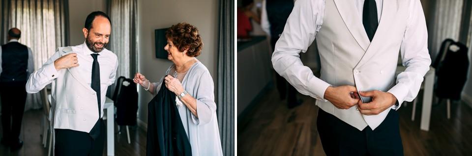 elegante abito sposo