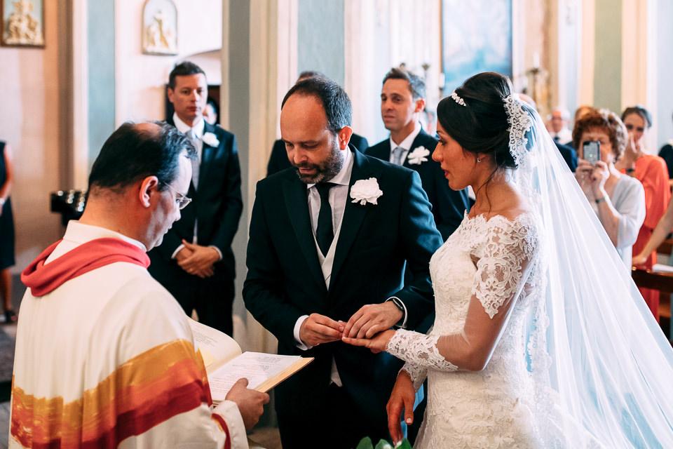 scambio degli anelli matrimonio la morra
