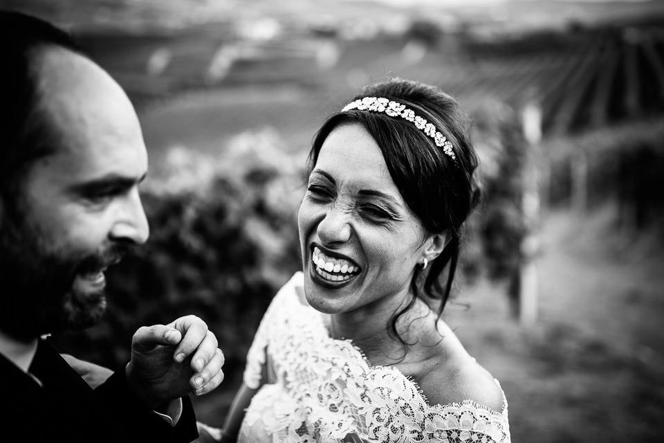 sposa sorridente