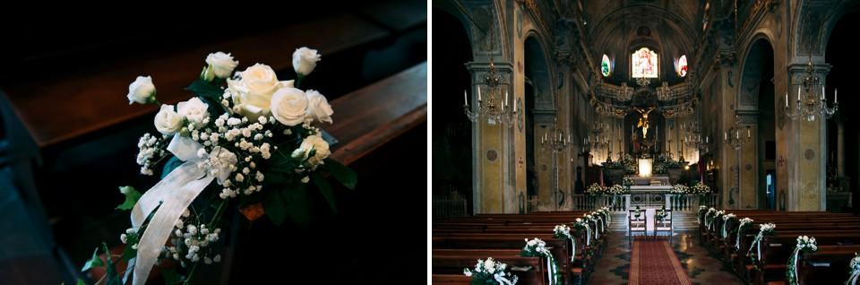 la chiesa di monastero bormida allestita per un matrimonio