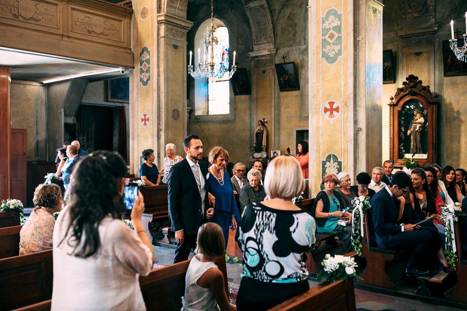 ingresso in chiesa dello sposo a monastero bormida