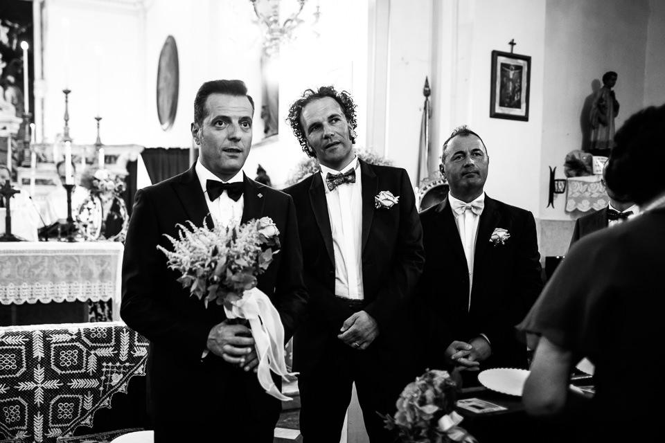il testimone dello sposo in chiesa