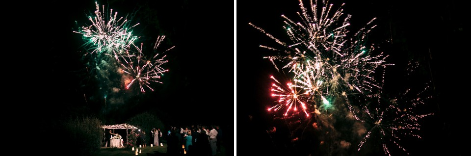 fuochi d'artificio matrimonio nel monferrato