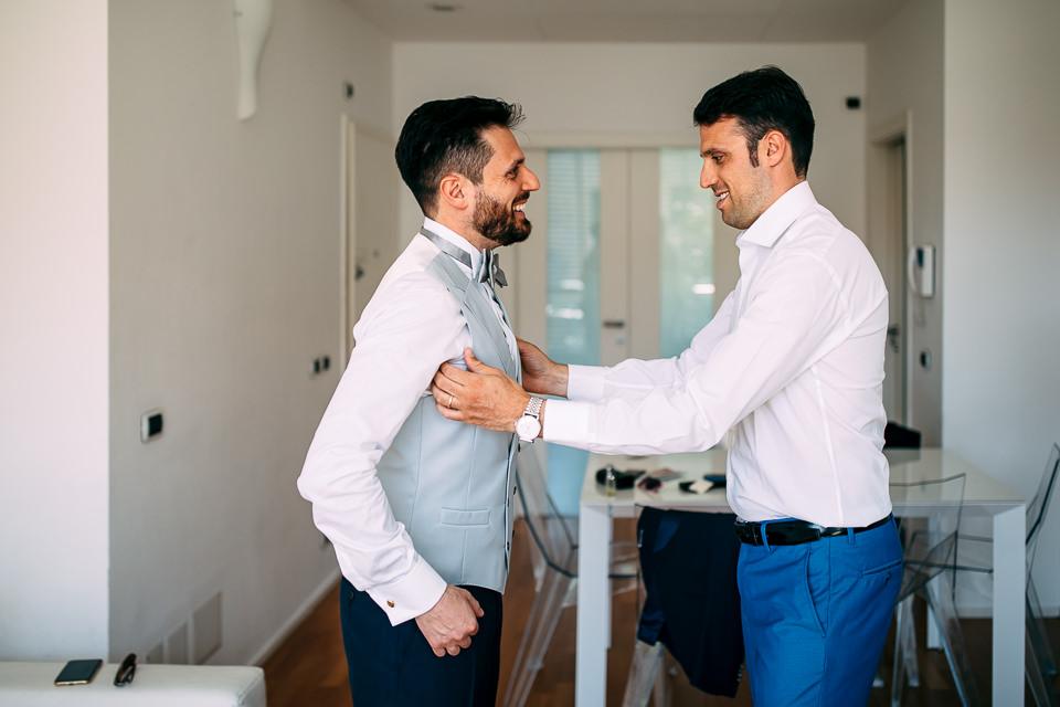 sposo con il fratello