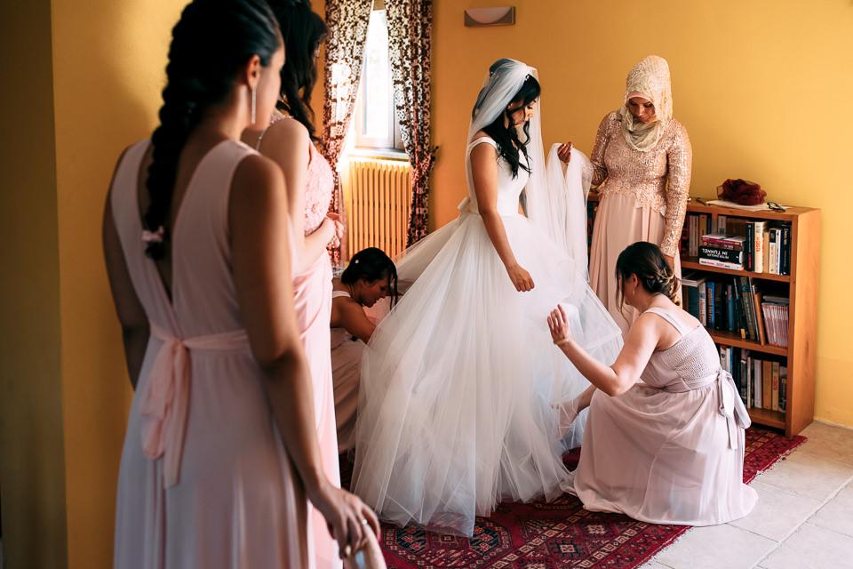vestizione sposa marocchina