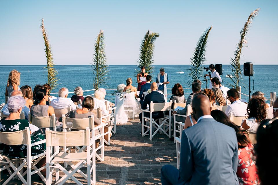cerimonia civile di matrimonio sul molo di spotorno