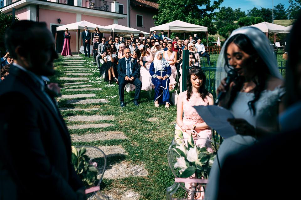 cerimonia all'aperto in villa sorgiva a tagliolo monferrato