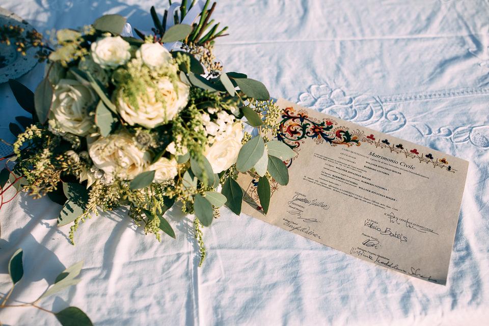 bouquet di matrimonio a spotorno
