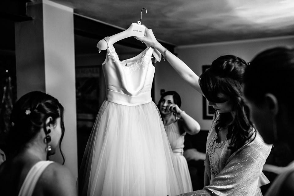 cambio d'abito sposa